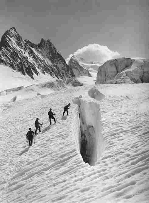 Crevasse on the Glacier Blanc, Grand Sagne and Ecrins, Alps, August 13, 1888