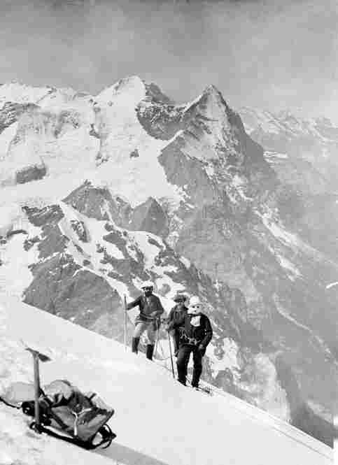 Alessandro Sella, Joseph Maquignaz, and Gaudenzio Sella on the Wetterhorn, July 19, 1886