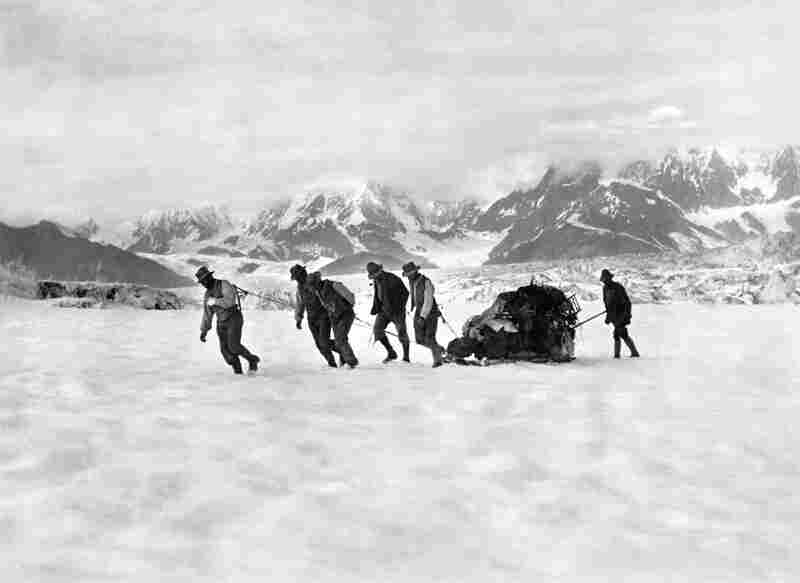 Traversing the Hitchcock Glacier on the return from Mount St. Elias, Alaska, 1897