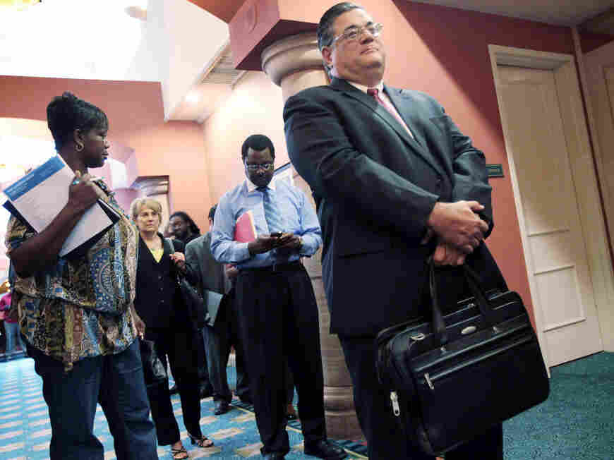 Fort Lauderdale jobs fair. Aug. 2, 2010.