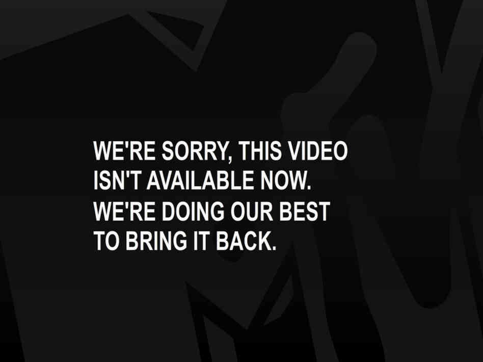 MTV's Error Message
