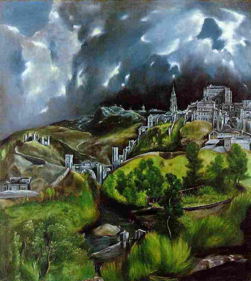 El Greco's View of Toledo (1596-1600).