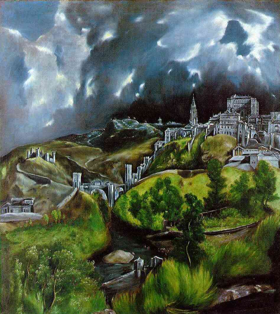 El Greco's View of Toledo (1596-1600).