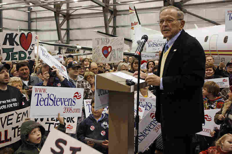The charges set up a tough re-election battle for Stevens, who faced Anchorage Mayor Mark Begich. Shortly before the election, Stevens was convicted on seven counts. On Oct. 29, 2008, Stevens told supporters in Anchorage that he would be vindicated.