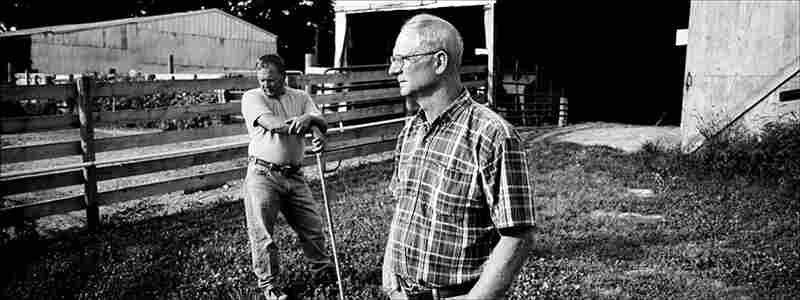 Utica residents Michael and Mike Meyers raise beef cattle on the farmland that has been family owned for four generations. The new highway project will bisect their fields.