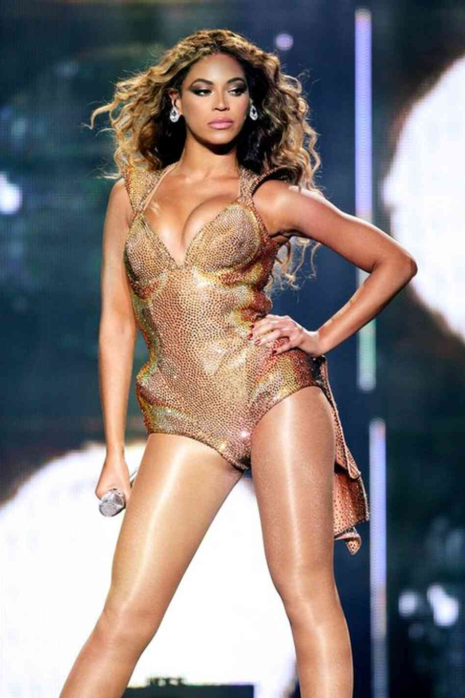 "Beyonce Knowles, as her Sasha Fierce persona on the ""I Am  . . . Sasha Fierce"" album tour at Madison Square Garden June 21, 2009."