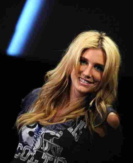 Kesha Rose Sebert, sans glitter, backstage in New York City on August 2, 2010.