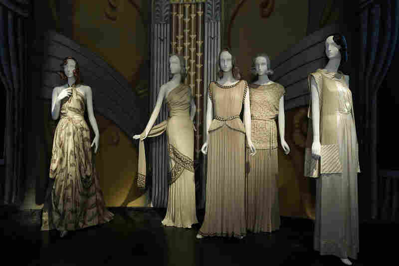 The Metropolitan's Screen Siren Gallery, showing gowns worn by starlets in the 1930s.