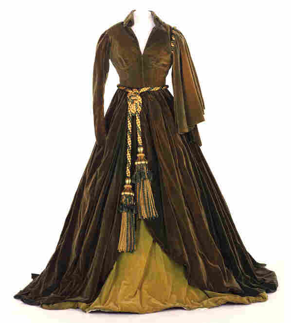 "Green curtain dress (the ""portieres dress"") worn by Vivien Leigh as Scarlett O'Hara in Gone With The Wind. Image courtesy Harry Ransom Center."