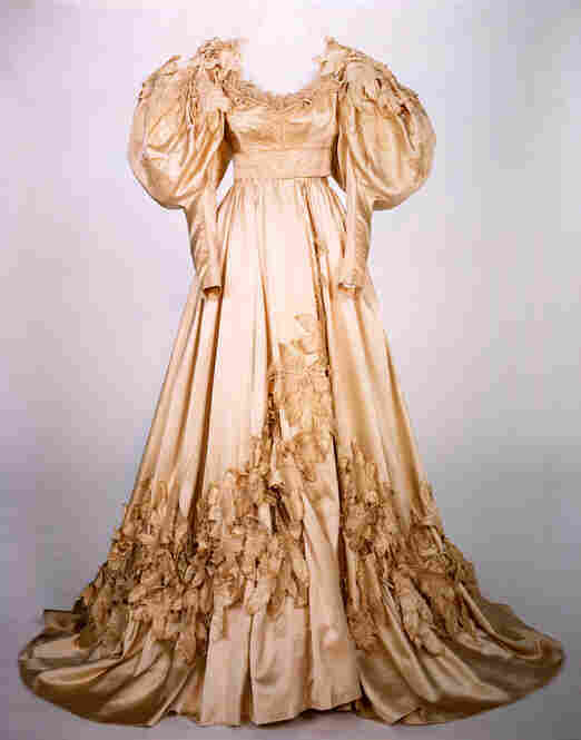 The wedding dress worn by Vivien Leigh as Scarlett O'Hara in Gone With The Wind. Image courtesy Harry Ransom Center.