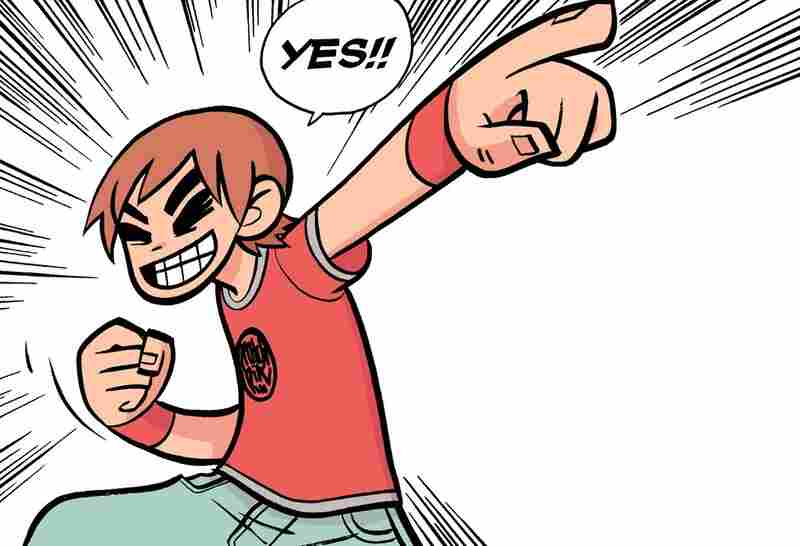 Canadian cartoonist Bryan Lee O'Malley has written six Scott Pilgrim comics, published between 2004 and 2010. The first entry, in which Scott meets his girlfriend-to-be, is called Scott Pilgrim's Precious Little Life.
