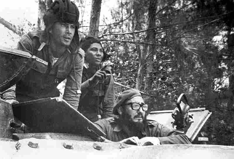 Castro (lower right) sits inside a tank during the 1961 Bay of Pigs invasion, when about 1,500 CIA-supported Cuban exiles landed in Cuba and tried, unsuccessfully, to spark a popular uprising.
