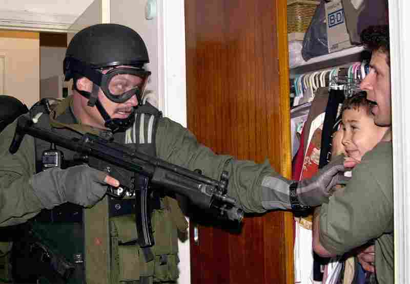 After his mother drowned while trying to escape Cuba for the U.S., young Cuban Elian Gonzalez lived with relatives in Miami until federal agents stormed the house on April 22, 2000. He was returned to his father in Cuba.