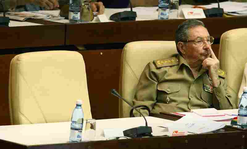 Raul Castro, sitting beside Fidel Castro's empty seat, takes part in a key parliamentary session on Dec.28, 2007 in Havana. Named interim president in 2006 after his brother became ill, Raul was elected president in 2008.
