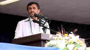 Iranian President Mahmoud Ahmadinejad Delivers Speech In Hamadan