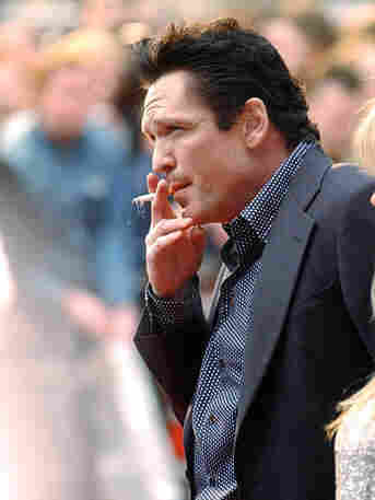 Actor Michael Madsen smokes outside the British premiere of Kill Bill - Vol. 2 in London in 2004.