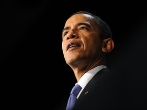 US President Barack Obama speaks at a fu