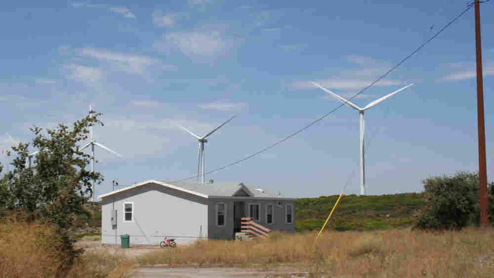 House and Windmills on the Campo tribal land