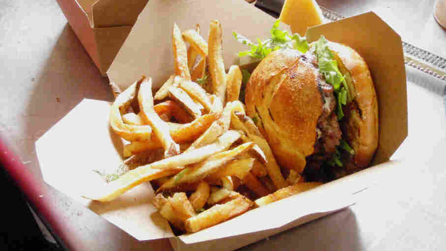 A burger from Skillet