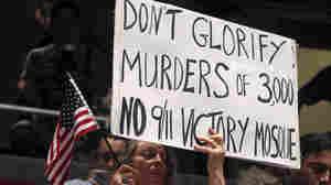 A protester of the Islamic community center near Ground Zero