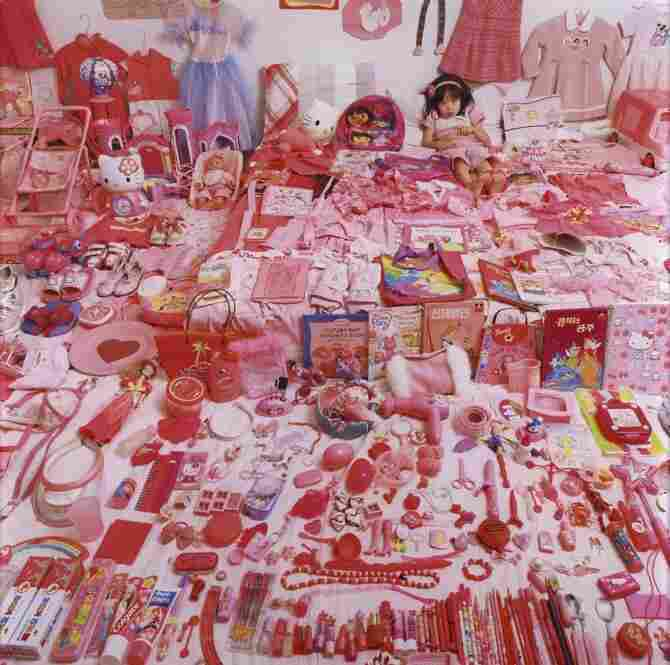 Seo Woo and Her Pink Things, 2006, from The Pink & Blue Project