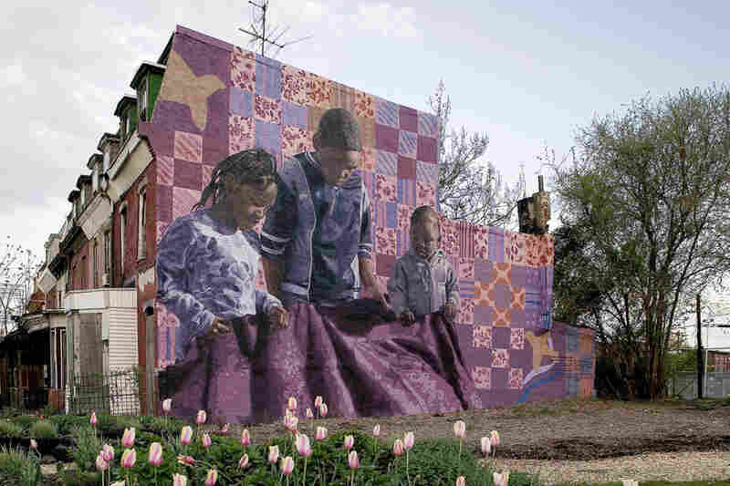 """Holding Grandmother's Quilt"" at Aspen Street and North 39th Street"