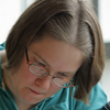Lisa Daxer works on homework at Wright State University.