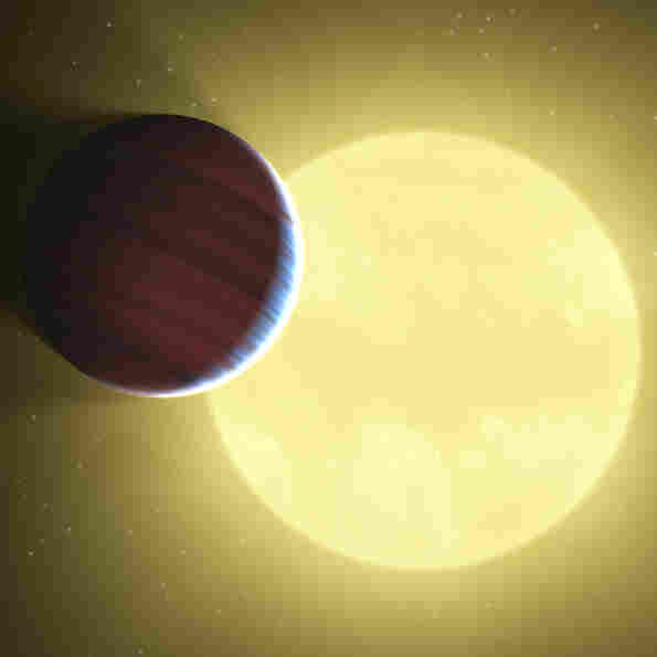 Artist's rendering of planets discovered by the Kepler telescope.