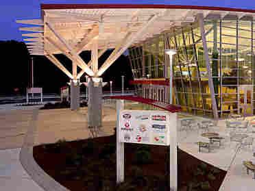 The sparkling new Delaware Travel Plaza. Courtesy HMS Host
