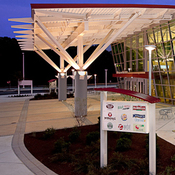 The sparkling new Delaware Travel Plaza. Courtesy HMS Host