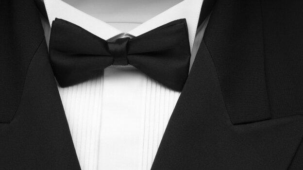 tuxedo close-up on bow tie