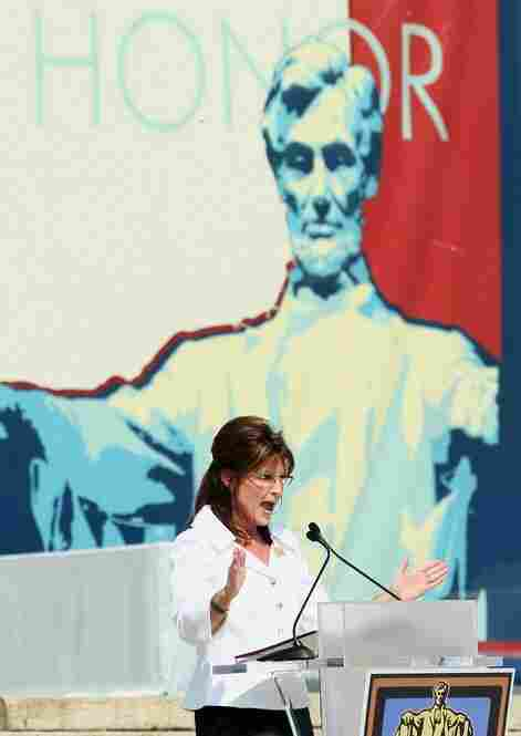 """We are worried about what we face,"" Tea Party champion and former Alaska Gov. Sarah Palin told the crowd. ""Sometimes, our challenges seem insurmountable."""