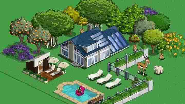 A virtual home in Farmville. Farmville Facebook Photo