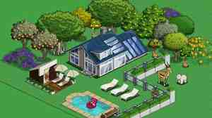 A virtual home in Farmville. Farmville Facebook Photo