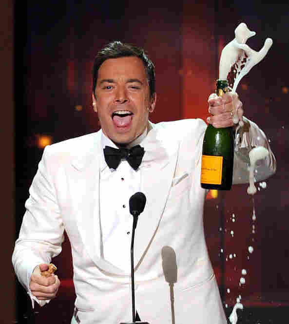 Host Jimmy Fallon speaks onstage at the 62nd Annual Primetime Emmy Awards