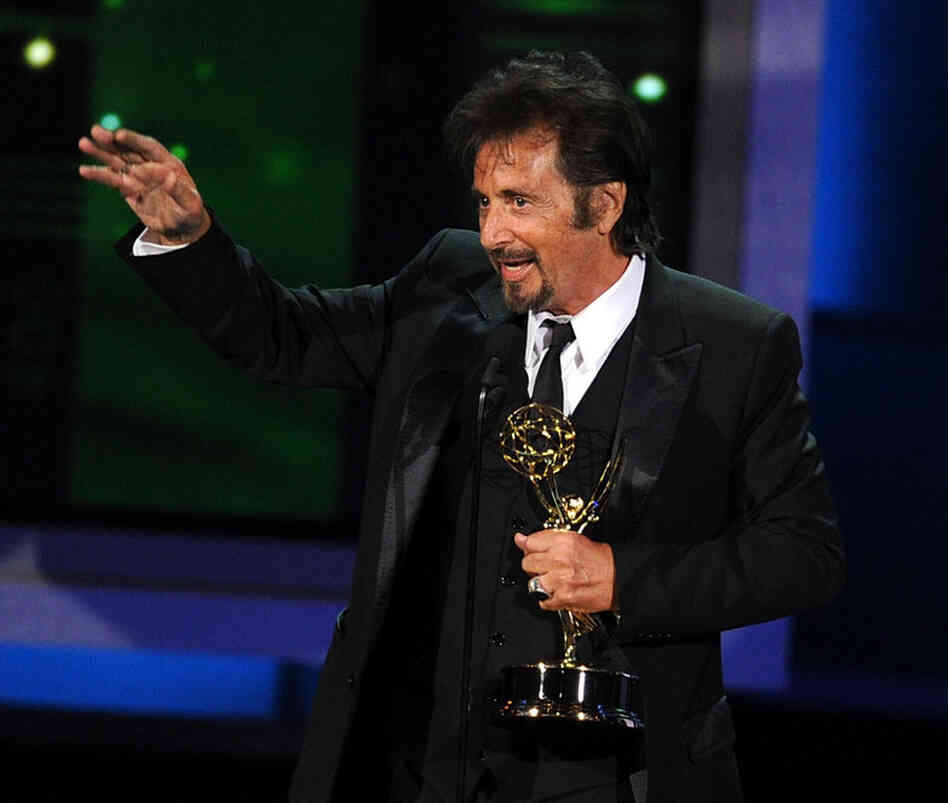 Actor Al Pacino accepts the Outstanding Lead Actor in a Miniseries or Movie award for You Don't Know Jack in which he portrays Dr. Jack Kevorkian.