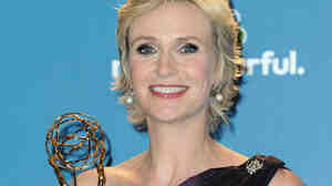 Jane Lynch with her Emmy