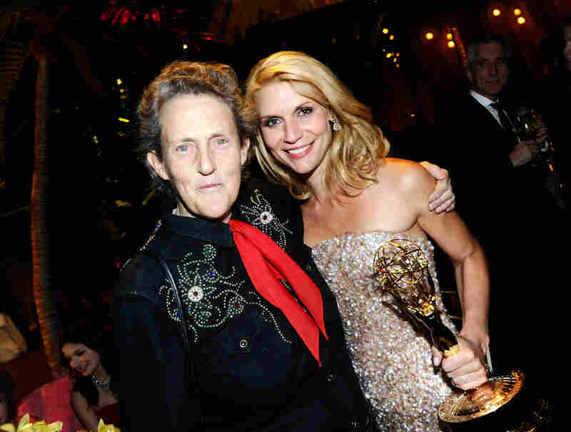 Temple Grandin and Claire Danes attend HBO's Annual Emmy Awards Post Award Reception at The Plaza at the Pacific Design Center on Sunday. Danes won the Outstanding Lead Actress in a Miniseries or Movie award for her portrayal of Grandin.