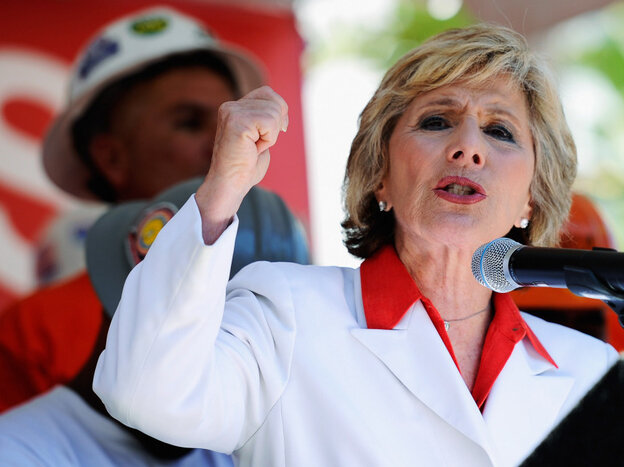 Sen. Barbara Boxer, D-Calif., on Aug. 13 in Los Angeles.