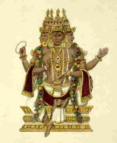 Brahma, the Hindu god of creation