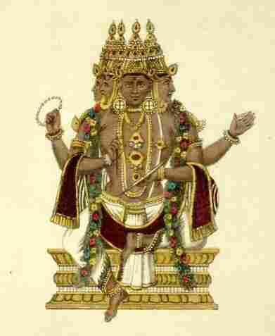 Brahma, the Hindu god of creation
