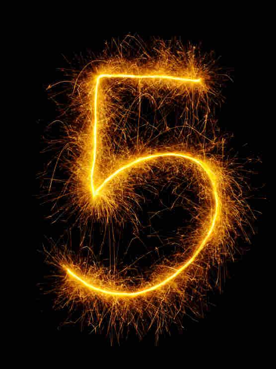 Numeral five. 5