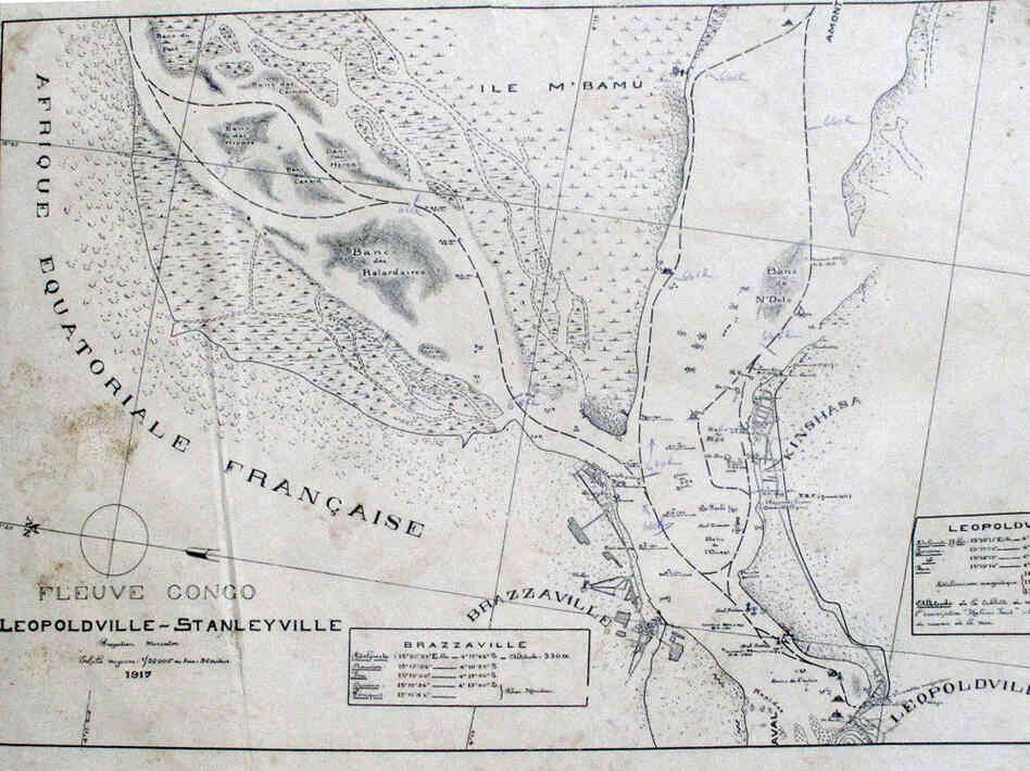 old map Congo River