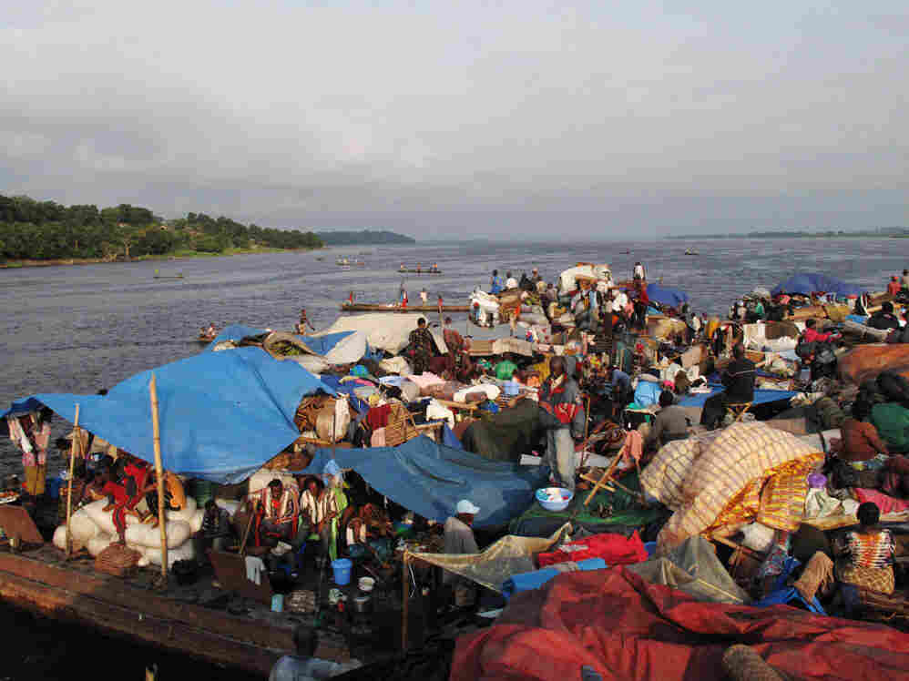 The barge, on the Congo River