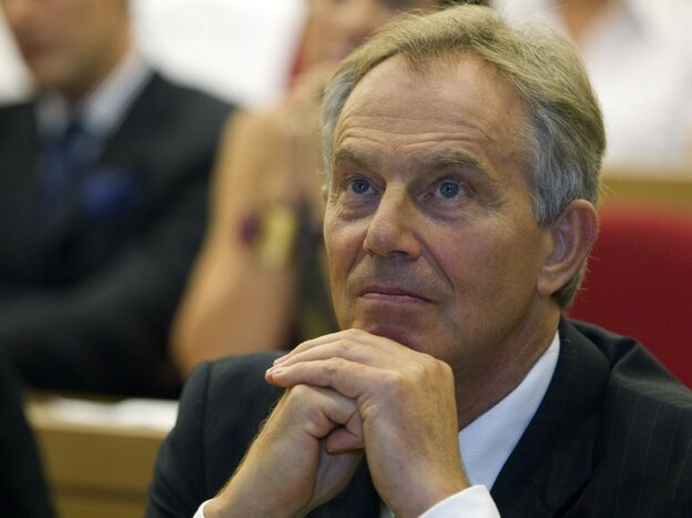 Quartet Middle East envoy Tony Blair att