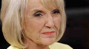 Arizona Gov. Jan Brewer during a televised debate, Sept. 1, 2010.