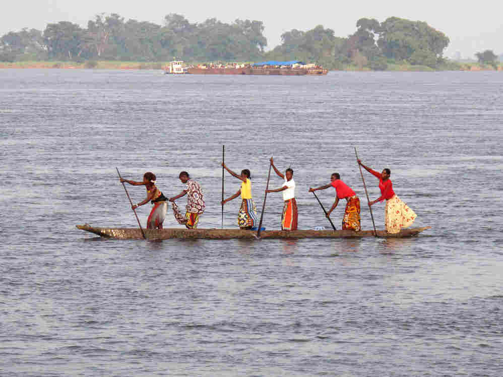 canoe on the Congo River