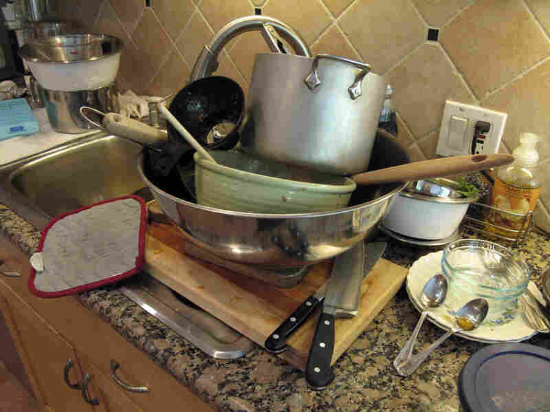 """After a full morning of canning, there's plenty of cleaning to be done. """"I don't worry too much,"""" Barrow says. """"Fortunately, my husband's really good at cleaning the kitchen!"""""""
