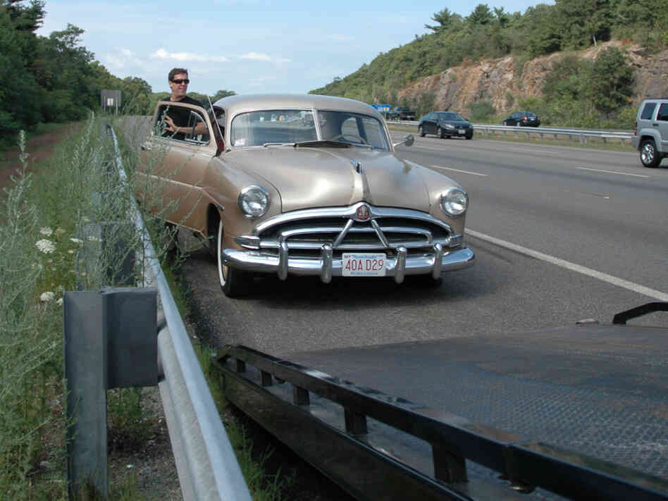 Dan McNichols and his 1951 Hudson. Tovia Smith/NPR