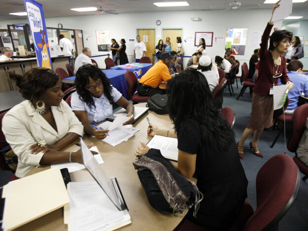 Job seekers in Hollywood, Fla., on Sept. 1